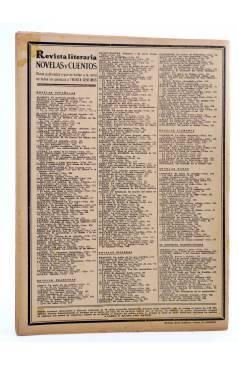 Contracubierta de REVISTA LITERARIA NOVELAS Y CUENTOS 403. EL JOVEN MAUGARS (André Theuriet) Dédalo 1936