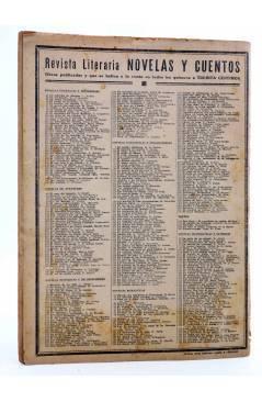 Contracubierta de REVISTA LITERARIA NOVELAS Y CUENTOS 409. SOL DE MEDIA NOCHE (Pierre Benoit) Dédalo 1936