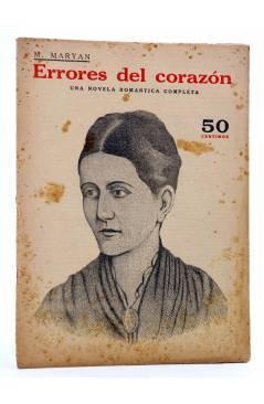 Cubierta de REVISTA LITERARIA NOVELAS Y CUENTOS s/n. ERRORES DEL CORAZÓN (M. Maryan) Dédalo Circa 1940