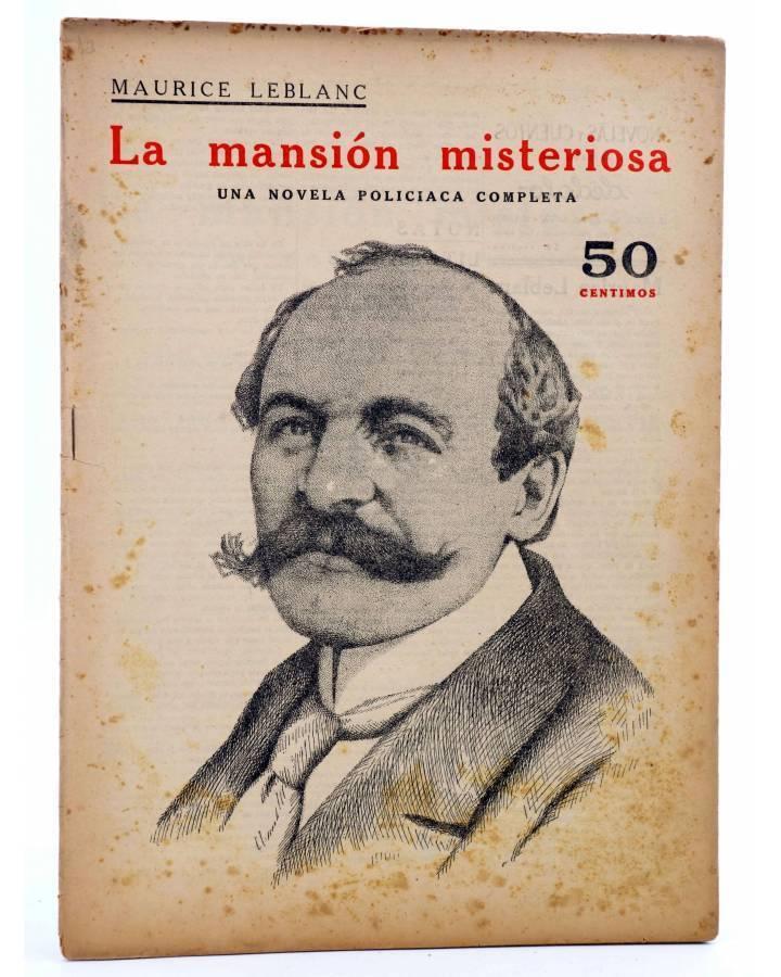 Cubierta de REVISTA LITERARIA NOVELAS Y CUENTOS s/n. LA MANSIÓN MISTERIOSA (Maurice Leblanc) Dédalo Circa 1940