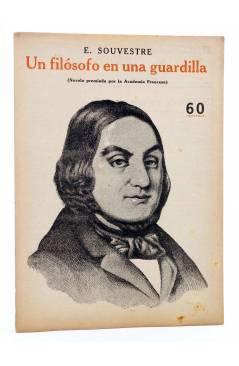 Cubierta de REVISTA LITERARIA NOVELAS Y CUENTOS s/n. UN FILÓSOFO EN UNA GUARDILLA (E. Souvestre) Dédalo 1944