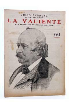 Cubierta de REVISTA LITERARIA NOVELAS Y CUENTOS s/n. LA VALIENTE (Julio Sandeau) Dédalo Circa 1940