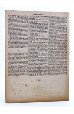 Contracubierta de REVISTA LITERARIA NOVELAS Y CUENTOS s/n. LA VALIENTE (Julio Sandeau) Dédalo Circa 1940