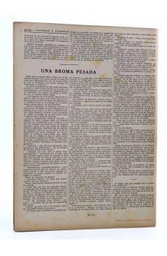 Contracubierta de REVISTA LITERARIA NOVELAS Y CUENTOS s/n. LA CASA MISTERIOSA (Paul Feval) Dédalo Circa 1940