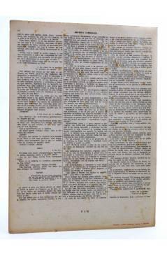 Contracubierta de REVISTA LITERARIA NOVELAS Y CUENTOS s/n. LA PALOMA (Alejandro Dumas (Padre)) Dédalo Circa 1940