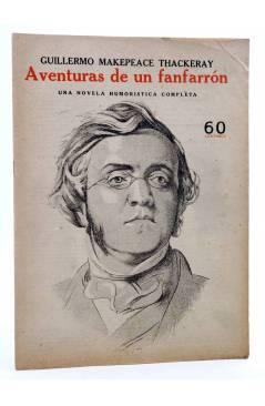Cubierta de REVISTA LITERARIA NOVELAS Y CUENTOS s/n. AVENTURAS DE UN FANFARRÓN (W. Thackeray) Dédalo Circa 1940
