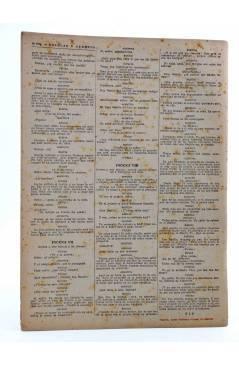 Contracubierta de REVISTA LITERARIA NOVELAS Y CUENTOS s/n. EL BARBERO DE SEVILLA (Beaumarchais) Dédalo Circa 1940