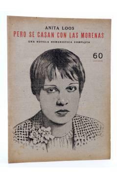 Cubierta de REVISTA LITERARIA NOVELAS Y CUENTOS. PERO SE CASAN CON LAS MORENAS (Anita Loos) Dédalo Circa 1940