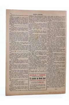 Contracubierta de REVISTA LITERARIA NOVELAS Y CUENTOS s/n. DIARIO DE ADÁN (Mark Twain) Dédalo Circa 1940