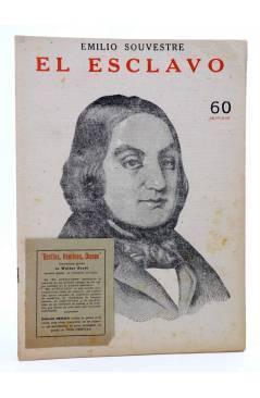 Cubierta de REVISTA LITERARIA NOVELAS Y CUENTOS s/n. EL ESCLAVO (Emilio Souvestre) Dédalo Circa 1940
