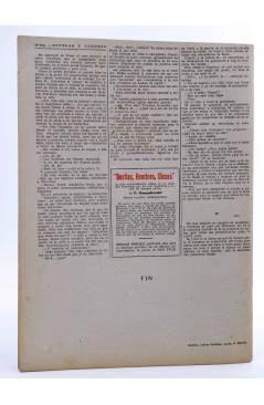 Contracubierta de REVISTA LITERARIA NOVELAS Y CUENTOS s/n. EL ESCLAVO (Emilio Souvestre) Dédalo Circa 1940