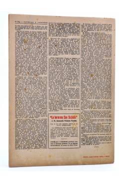 Contracubierta de REVISTA LITERARIA NOVELAS Y CUENTOS s/n. SUEÑO DE AMOR (Federico Soulié) Dédalo Circa 1940