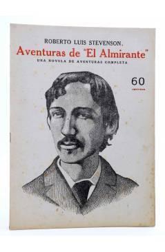 Cubierta de REVISTA LITERARIA NOVELAS Y CUENTOS. AVENTURAS DE EL ALMIRANTE (R.L. Stevenson) Dédalo Circa 1940