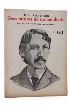 Cubierta de REVISTA LITERARIA NOVELAS Y CUENTOS. DESVENTURAS DE UN INDOLENTE (R.L. Stevenson) Dédalo Circa 1940