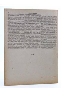Contracubierta de REVISTA LITERARIA NOVELAS Y CUENTOS. DESVENTURAS DE UN INDOLENTE (R.L. Stevenson) Dédalo Circa 1940