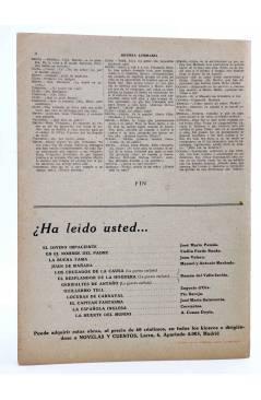 Contracubierta de REVISTA LITERARIA NOVELAS Y CUENTOS s/n. JULIO CÉSAR (Shakespeare) Dédalo Circa 1940