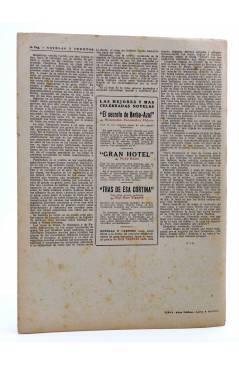 Contracubierta de REVISTA LITERARIA NOVELAS Y CUENTOS s/n. EL REY CANDAULE (Teofilo Gautier) Dédalo Circa 1940