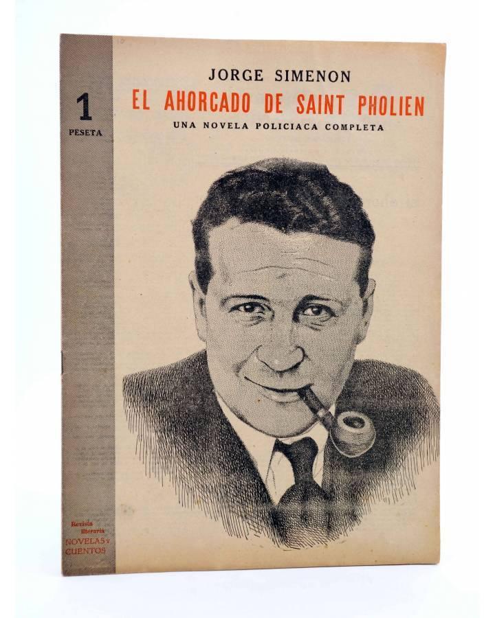 Cubierta de REVISTA LITERARIA NOVELAS Y CUENTOS. EL AHORCADO DE SAINT PHOLIEN (Jorge Simenon) Dédalo Circa 1940