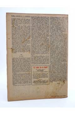Contracubierta de REVISTA LITERARIA NOVELAS Y CUENTOS s/n. LA ISLA DEL DOCTOR MOREAU (H.G. Wells) Dédalo Circa 1940