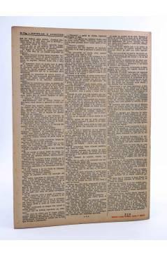 Contracubierta de REVISTA LITERARIA NOVELAS Y CUENTOS s/n. HÉRCULES EL ATREVIDO (Alejandro Dumas) Dédalo Circa 1940