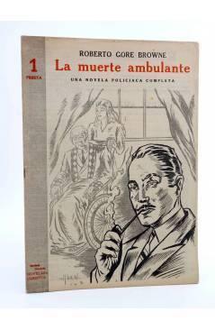 Cubierta de REVISTA LITERARIA NOVELAS Y CUENTOS s/n. LA MUERTE AMBULANTE (R. Gore Browne) Dédalo Circa 1940