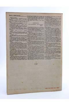 Contracubierta de REVISTA LITERARIA NOVELAS Y CUENTOS s/n. LA MUERTE AMBULANTE (R. Gore Browne) Dédalo Circa 1940
