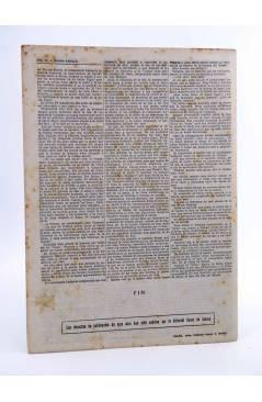 Contracubierta de REVISTA LITERARIA NOVELAS Y CUENTOS 712. EL FARO DEL FIN DEL MUNDO (Julio Verne) Dédalo 1944
