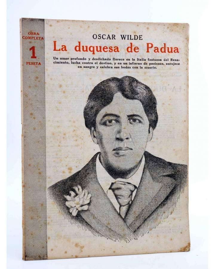 Cubierta de REVISTA LITERARIA NOVELAS Y CUENTOS 720. LA DUQUESA DE PADUA (Oscar Wilde) Dédalo 1945