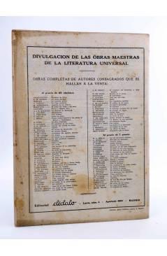 Contracubierta de REVISTA LITERARIA NOVELAS Y CUENTOS 720. LA DUQUESA DE PADUA (Oscar Wilde) Dédalo 1945