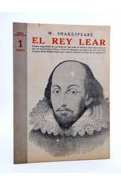 Cubierta de REVISTA LITERARIA NOVELAS Y CUENTOS 730. EL REY LEAR (William Shakespeare) Dédalo 1945