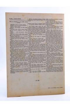 Contracubierta de REVISTA LITERARIA NOVELAS Y CUENTOS 730. EL REY LEAR (William Shakespeare) Dédalo 1945