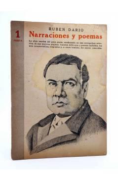 Cubierta de REVISTA LITERARIA NOVELAS Y CUENTOS 736. NARRACIONES Y POEMAS (Ruben Darío) Dédalo 1945