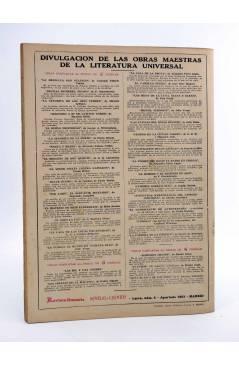 Contracubierta de REVISTA LITERARIA NOVELAS Y CUENTOS 737. HAY QUE SER BRUSCO (Michael Fiaschetti) Dédalo 1945