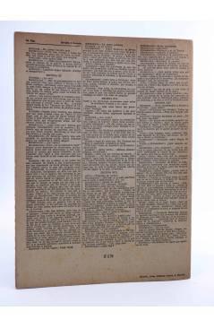 Contracubierta de REVISTA LITERARIA NOVELAS Y CUENTOS 740. LOS NIBELUNGOS (C. F. Hebbel) Dédalo 1945