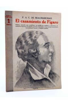 Cubierta de REVISTA LITERARIA NOVELAS Y CUENTOS 746. EL CASAMIENTO DE FÍGARO (P.A.C. Beaumarchais) Dédalo 1945