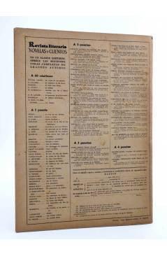 Contracubierta de REVISTA LITERARIA NOVELAS Y CUENTOS 764. UN MARIDO IDEAL (Oscar Wilde) Dédalo 1945