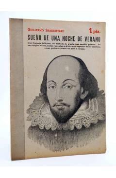 Cubierta de REVISTA LITERARIA NOVELAS Y CUENTOS 814. SUEÑO DE UNA NOCHE DE VERANO (W. Shakespeare) Dédalo 1946