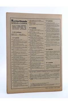 Contracubierta de REVISTA LITERARIA NOVELAS Y CUENTOS 814. SUEÑO DE UNA NOCHE DE VERANO (W. Shakespeare) Dédalo 1946