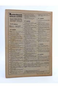 Contracubierta de REVISTA LITERARIA NOVELAS Y CUENTOS 826. LA BELLA NIVERNESA (Alfonso Daudet) Dédalo 1947