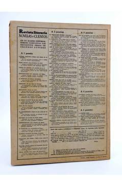 Contracubierta de REVISTA LITERARIA NOVELAS Y CUENTOS 835. UNA MUJER SIN IMPORTANCIA (Oscar Wilde) Dédalo 1947