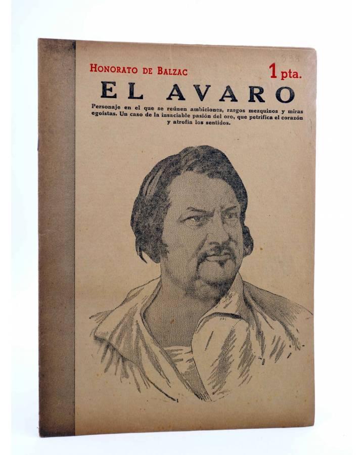 Cubierta de REVISTA LITERARIA NOVELAS Y CUENTOS 838. EL AVARO (Honorato De Balzac) Dédalo 1947