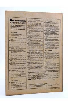 Contracubierta de REVISTA LITERARIA NOVELAS Y CUENTOS 844. UN NOBLE ARRUINADO (Enrique Conscience) Dédalo 1947