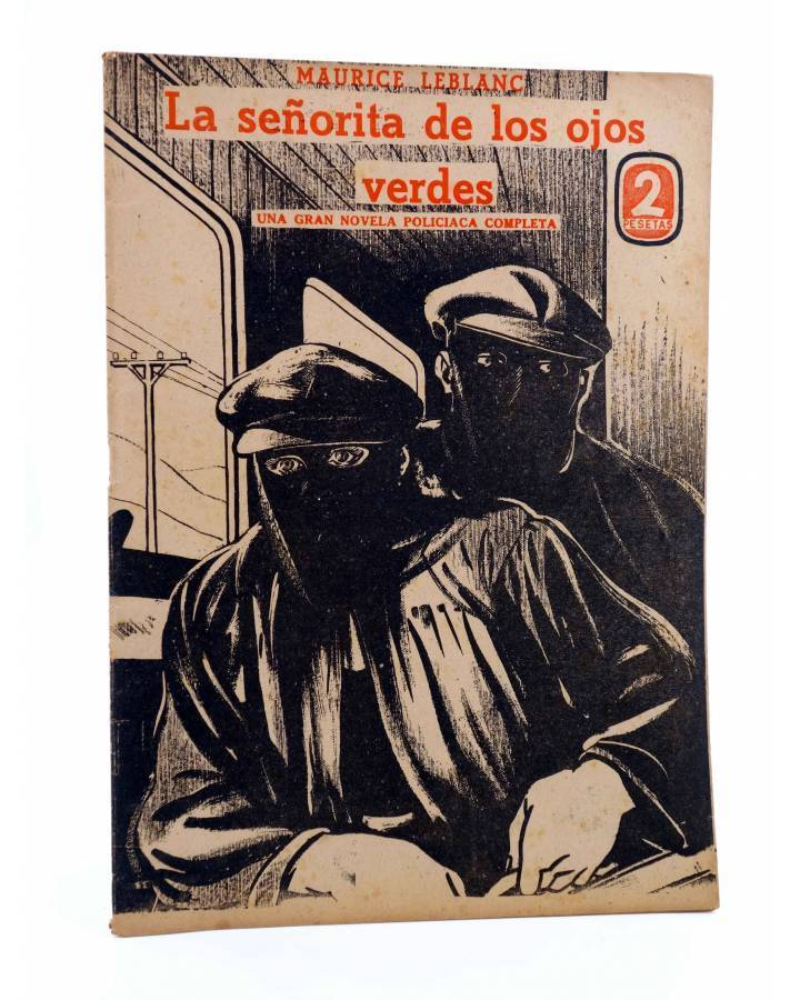 Cubierta de REVISTA LITERARIA NOVELAS Y CUENTOS. LA SEÑORITA DE LOS OJOS VERDES (M. Leblanc) Dédalo Circa 1940