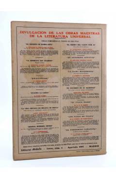 Contracubierta de REVISTA LITERARIA NOVELAS Y CUENTOS. LA SEÑORITA DE LOS OJOS VERDES (M. Leblanc) Dédalo Circa 1940