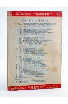Contracubierta de BIBLIOTECA ROCÍO 82. LA GRAN LECCIÓN (María Sepúlveda) Betis Circa 1940