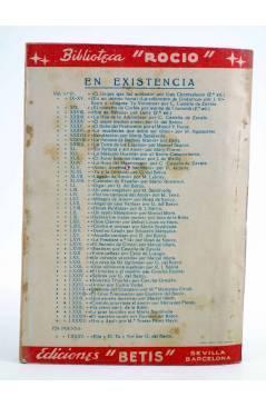 Contracubierta de BIBLIOTECA ROCÍO 84. ORO Y AZUL (M. Teresa Pérez Mayo) Betis Circa 1940