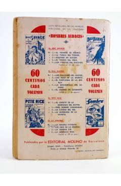 Contracubierta de HOMBRES AUDACES: PETE RICE 4. LA QUEBRADA DE LA MUERTE (Austin Gridley) Molino 1936