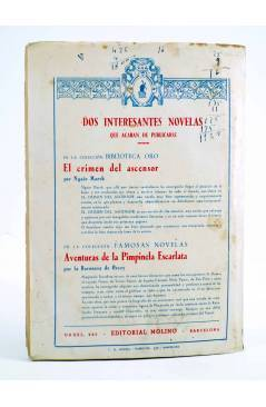Contracubierta de BIBLIOTECA ORO AZUL 236. RURALES DE CALIFORNIA (Tex Holt) Molino 1948