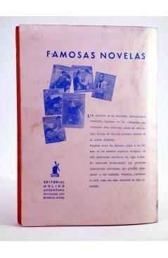 Contracubierta de BIBILOTECA ORO 284. EL ENIGMA DEL CAMPO DE POLO (Jean Francis Webb) Molino Arg. 1946