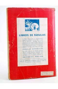 Contracubierta de COLECCIÓN MOLINO 1. UN CAPITÁN DE QUINCE AÑOS (Julio Verne) Molino Circa 1945